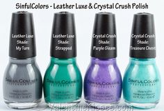 Valentine Kisses: SinfulColors Leather Luxe & Crystal Crush Nail ...