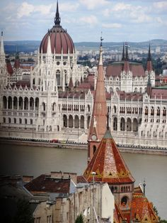 Danube river and Budapest castle