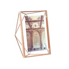 Umbra 5 x 7 cm Steel Prisma Photo Display, Copper/ Mat Brass/Chrome/Black