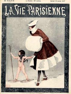 Georges Léonnec (1881 – 1940). La Vie Parisienne, 13 Janvier 1917. [Pinned 22-vii-2015]