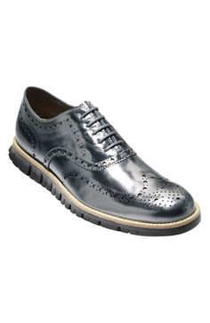 Cole Haan 'ZeroGrand' Gunmetal Leather Wingtip (Men) available at #Nordstrom, Men's Fall Winter Fashion.