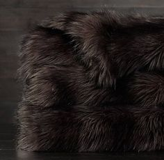 Exotic Faux Fur Oversized Bed Throw | RH
