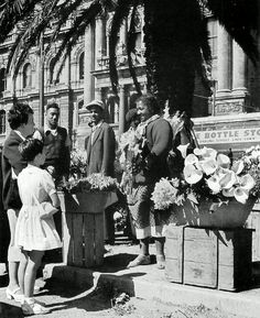 Flower Sellers on The Parade 1960