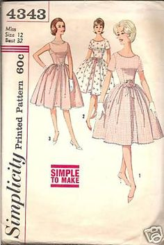 Vintage Mode: VINTAGE SIMPLICITY 4343 PARTY DRESS sewing pattern 12