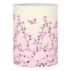 Floral Cherry Blosssoms Flameless Candle