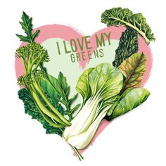 Food-illustration-i-love-my-greens-healthy-lifestyle-healthy-eating plant based diet nutrition.