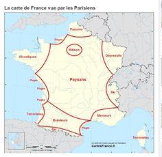 Carte De France Vue Par Les Parisiens