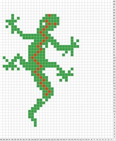 lizard hama perler beads pattern