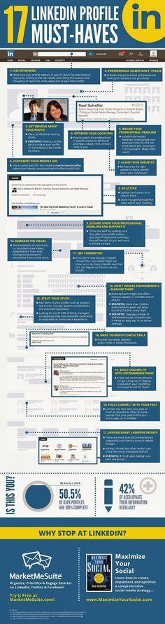 17 étapes pour avoir un profil Linkedin presque parfait