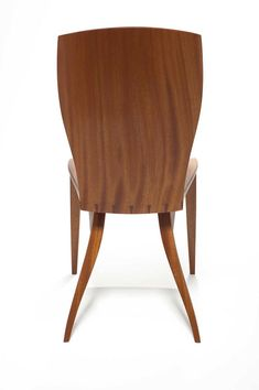 Growing up in an Italian family we would all talk during dinner usually for hours, resulting in the conversation ending or relocating due to family back problems.  The seat and back is shaped completely by hand and is extremely comfortable.