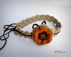 Check out Headband jewelry hair  crochet,yellow flowers hair accessory Boho ,romantique style  crochet headband,bohemian chic, hair jewelry headband. on ezdessin