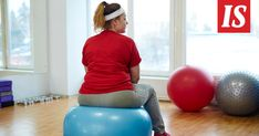 Back View Portrait of Obese Woman on Fitness ball Royalty Free Stock Photo Big Daddy Pizza, Obese Women, Alternative Health, Stress And Anxiety, Organic Recipes, Weight Gain, Free Food, Health Tips, Royalty Free Stock Photos