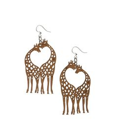 This Tan Giraffe Drop Earrings is perfect! #zulilyfinds