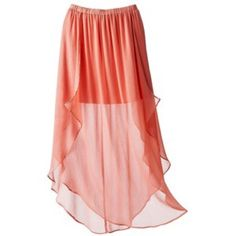 ✨2X Host Pick✨Coral Skirt Beautiful flowy skirt! This is a delicate skirt that flows beautifully on the body. Color is a bright coral. Never worn! Brand new. Xhilaration Skirts