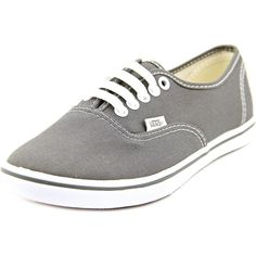 Vans Authentic Lo Pro Women Sneakers ($36) ❤ liked on Polyvore featuring shoes, sneakers, grey, grip shoes, vans shoes, grey shoes, round toe sneakers and vans sneakers