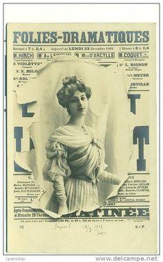 Mylo D'Arcylle | FOLIES DRAMATIQUES, 23 Decmbre 1901, M.Hirch, M Mylo D'Arcylle, M.Coquet