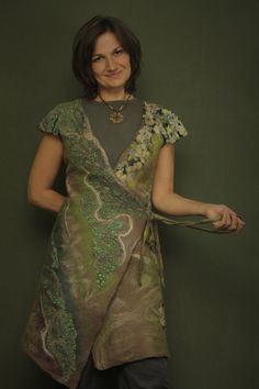 Out of Time / Felted Clothing / Chasuble Vest by LybaV on Etsy, $300.00
