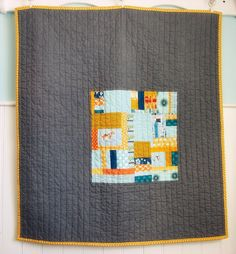 Modern baby quilt from Blue Elephant Stitches