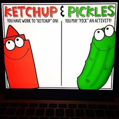 "Anyone else use ""Ketchup & Pickles""?! This is my go-to on Friday afternoons…"