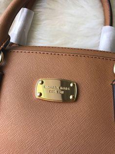 4f6caab50164 NWT Michael Kors Acorn Brown Saffiano Large Satchel Bag Purse Tote  Authentic $129.99 Crossbody Bag,
