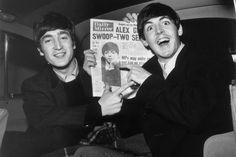 Paul McCartney with John Lennon.