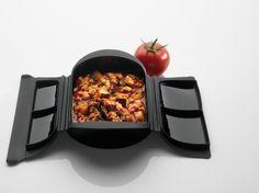 Salsa de tomate, carne picada y berenjena