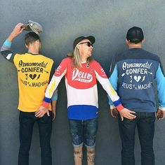DEUS EX MACHINA limited edition Jerseys Ornamental Connifer collaboration jerseys. Pictured on the left and right. Other