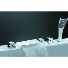 Waterfall Roman Tub faucet with Handheld Shower