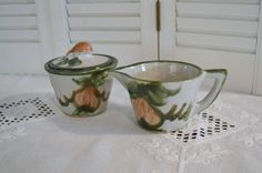Vintage Louisville Pottery Harvest Sugar Bowl and by PanchosPorch