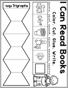 squ Trigraph Anchor Chart & Practice {Click File, Print