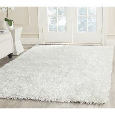 Safavieh New Orleans Shag Off White 5 ft. x 8 ft. Area – The Home Depot – shag carpet White Shag Area Rug, White Rug, White Beige, White Carpet, Vestibule, Polyester Rugs, Shag Carpet, Plush Carpet, Houses