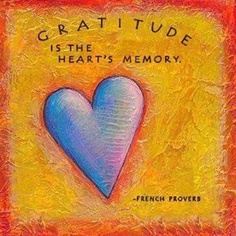 Gratitude is the Heart's memory. #hearts