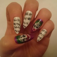 The Joker Glue On False Nails / The Suicide by NicolasNails14 / Suicide Squad / Why So Serious / Jared Leto Joker
