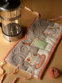 Super adorable quilted french press cozy