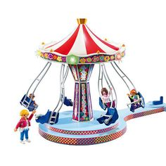 The new Playmobil Amusement Park sets runs on electricity to really go and light up - just add a small motor
