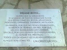 ORACION AL CRISTO ROTO...