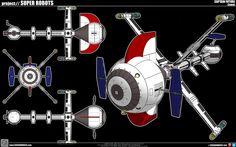 Captain Future's Comet Spaceship by cosedimarco.deviantart.com on @deviantART