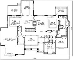 3 bedrooom, 2.5 bathrooms. (Basement includes another bedroom, office, and living space) Like mud room.