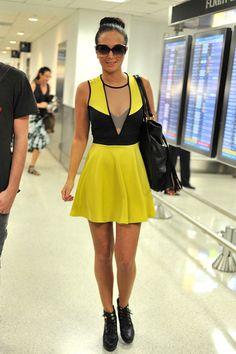 Tulisa Contostavlos - Tulisa Contostavlos Arrives at the Miami Airport