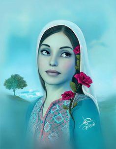 palestine / Emad Abu shtayeh Palestine History, Palestine Art, Palestinian Embroidery, Beautiful Rose Flowers, Classical Music, Art Studios, Creative Art, Art Quotes, Disney Characters