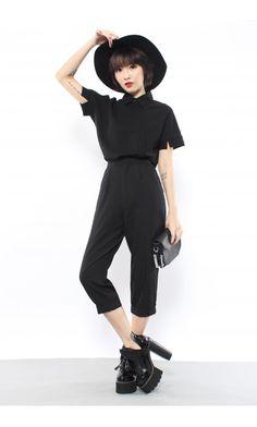 Asymmetrical Shirt in Black