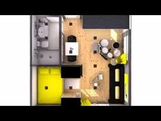 minipiso 25m2 (masculino con color) - YouTube Tiny House, Boho Room, Locker Storage, House Plans, How To Plan, Architecture, Youtube, Ideas, Log Projects