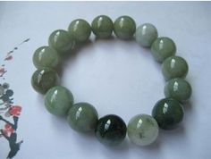 Natural Green Jade Bracelet for US$28.00 at Etsy. beads of jade for beauty. you must proudly show it.
