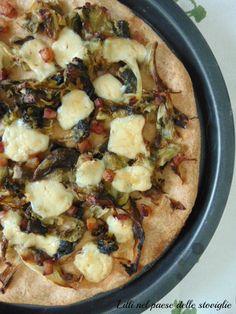 Pizza di farro e nocciole con scarola