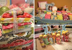 """Princess and the Pea party favors for my girls :)  They painted most of the peg dolls and each guest picked a doll, 5 """"matresses"""", a """"bed frame"""" and a pea!"""