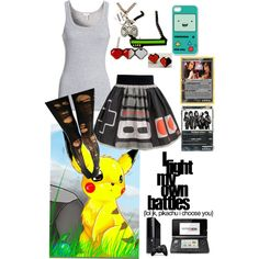 """Gamer girl"" by grimm-618 on Polyvore"