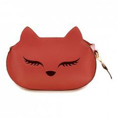 $13.46 Fashion Women's Crossbody Bag With Fox Pattern and PU Leather Design
