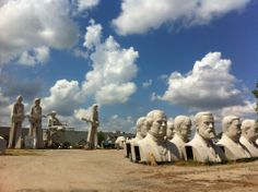 Considered to be one of Houston's leading artists, his gigantic statues of historical figures can be seen scattered around Houston.  Visit his warehouse to see 17' heads of presidents or a towering 30' sculpture of The Beatles.