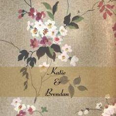 Oriental Blossoms Square Vertical Invitation