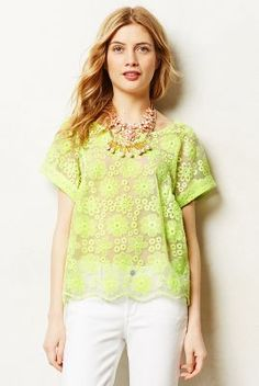 Neon lace top.